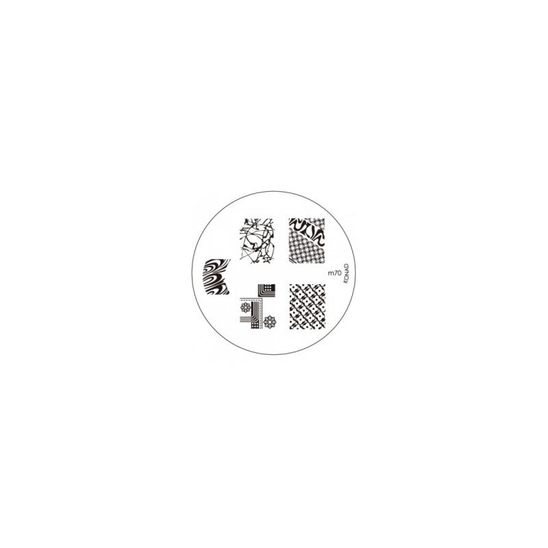 Matrita Metalica Pentru Stampile Unghii Konad M70