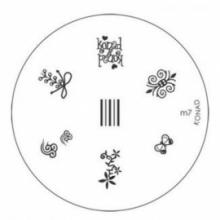Matrita Metalica Pentru Stampile Unghii Konad M7
