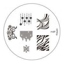 Matrita Metalica Pentru Stampile Unghii Konad M69