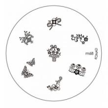 Matrita Metalica Pentru Stampile Unghii Konad M68