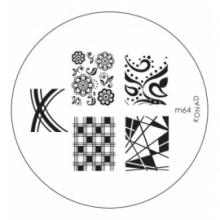 Matrita Metalica Pentru Stampile Unghii Konad M64