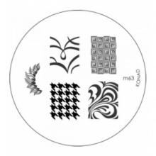 Matrita Metalica Pentru Stampile Unghii Konad M63