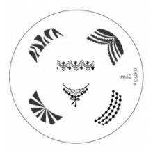 Matrita Metalica Pentru Stampile Unghii Konad M62
