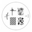 Matrita Metalica Pentru Stampile Unghii Konad M61