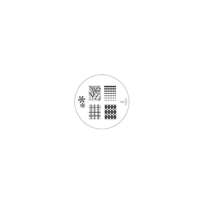 Matrita Metalica Pentru Stampile Unghii Konad M60