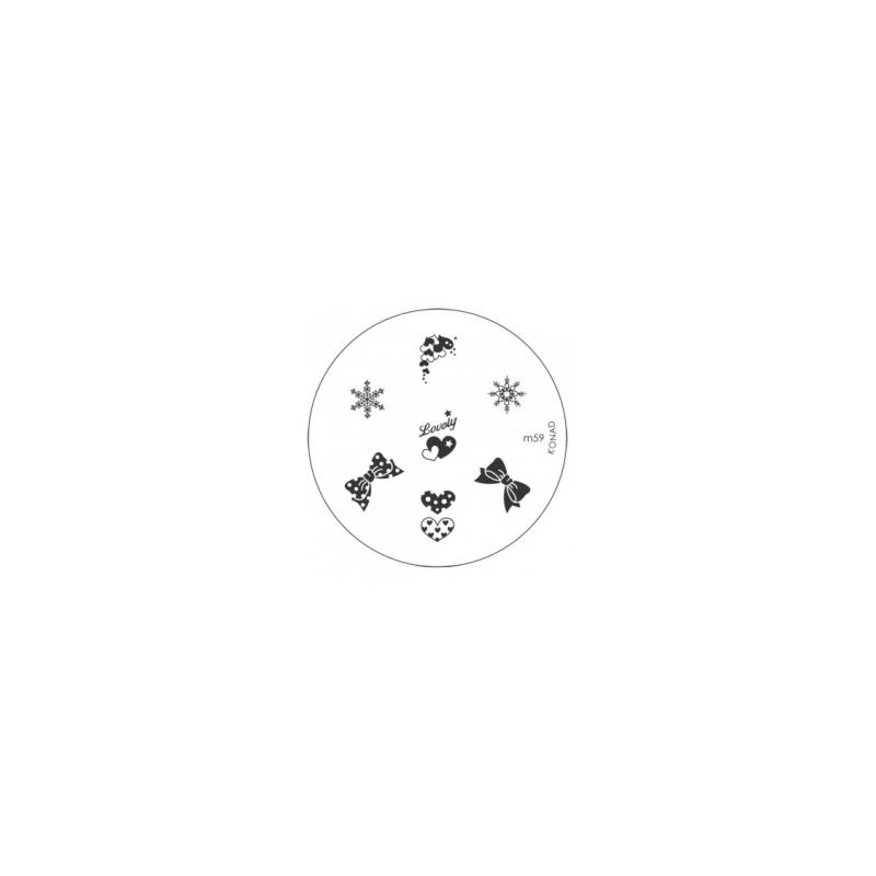 Matrita Metalica Pentru Stampile Unghii Konad M59