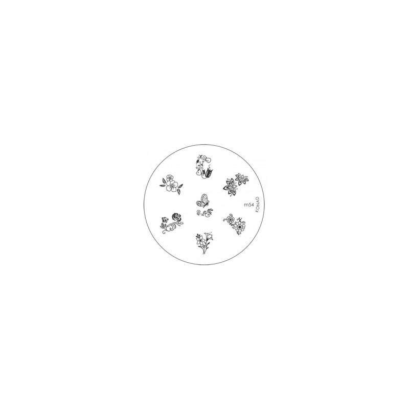 Matrita Metalica Pentru Stampile Unghii Konad M54
