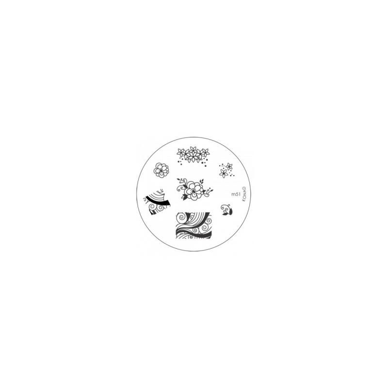 Matrita Metalica Pentru Stampile Unghii Konad M51