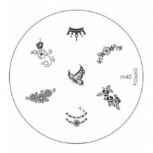 Matrita Metalica Pentru Stampile Unghii Konad M40