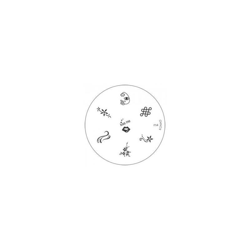 Matrita Metalica Pentru Stampile Unghii Konad M4
