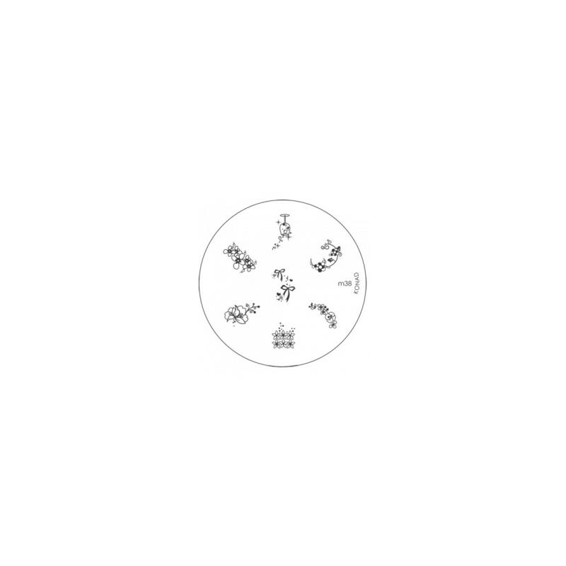 Matrita Metalica Pentru Stampile Unghii Konad M38