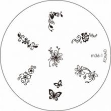 Matrita Metalica Pentru Stampile Unghii Konad M36-1