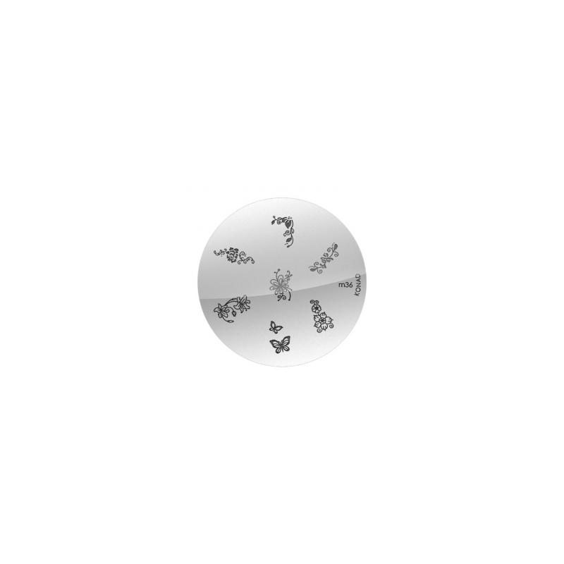 Matrita Metalica Pentru Stampile Unghii Konad M36