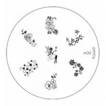 Matrita Metalica Pentru Stampile Unghii Konad M35