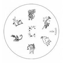 Matrita Metalica Pentru Stampile Unghii Konad M34