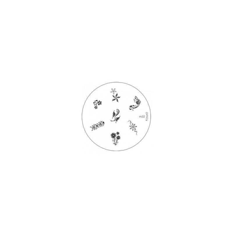 Matrita Metalica Pentru Stampile Unghii Konad M32