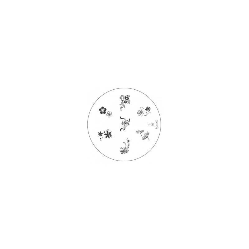 Matrita Metalica Pentru Stampile Unghii Konad M31