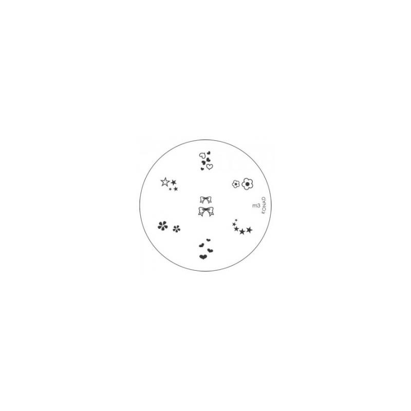 Matrita Metalica Pentru Stampile Unghii Konad M3