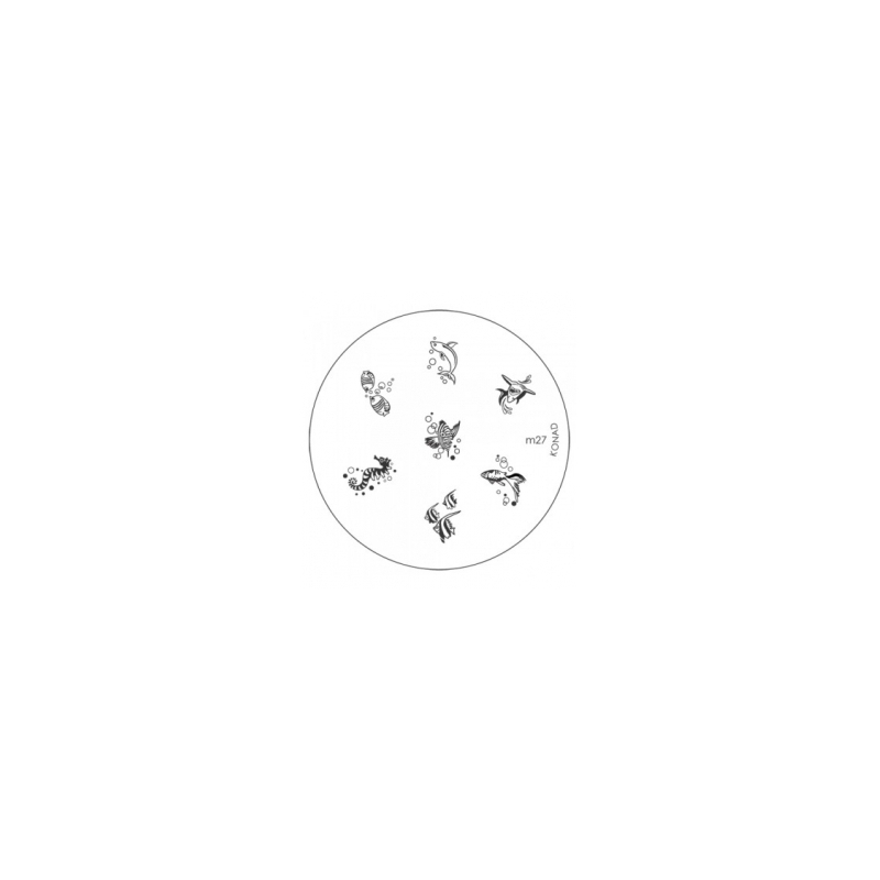 Matrita Metalica Pentru Stampile Unghii Konad M27