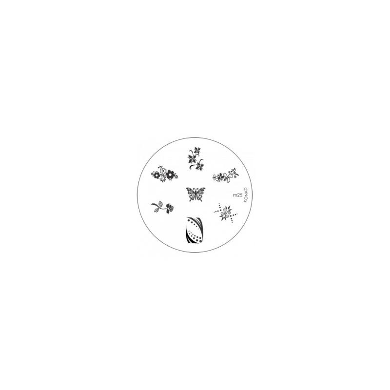 Matrita Metalica Pentru Stampile Unghii Konad M25