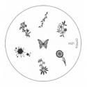Matrita Metalica Pentru Stampile Unghii Konad M21