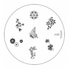 Matrita Metalica Pentru Stampile Unghii Konad M20