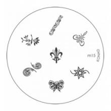 Matrita Metalica Pentru Stampile Unghii Konad M15