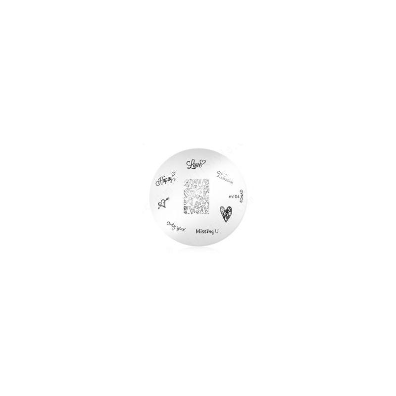 Matrita Metalica Pentru Stampile Unghii Konad M104