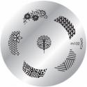 Matrita Metalica Pentru Stampile Unghii Konad M102