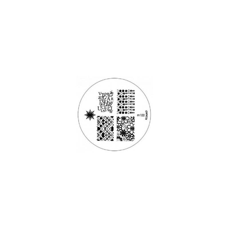 Matrita Metalica Pentru Stampile Unghii Konad M100