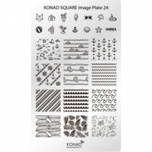 Matrita Dreptunghiulara Pentru Stampile Unghii Konad 24