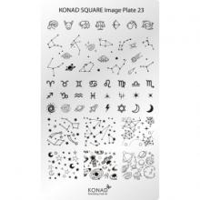 Matrita Dreptunghiulara Pentru Stampile Unghii Konad 23