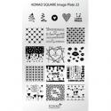 Matrita Dreptunghiulara Pentru Stampile Unghii Konad 22
