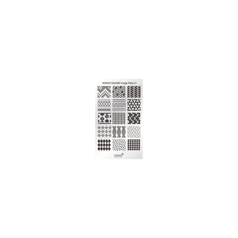 Matrita Dreptunghiulara Pentru Stampile Unghii Konad 21