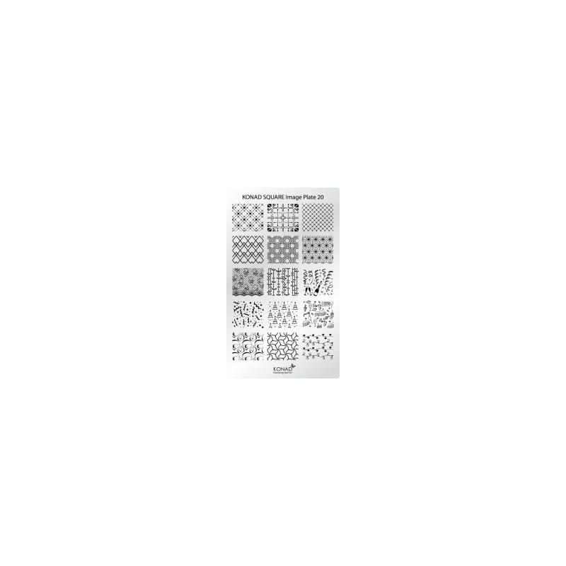Matrita Dreptunghiulara Pentru Stampile Unghii Konad 20