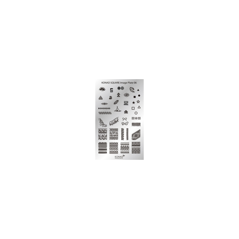 Matrita Dreptunghiulara Pentru Stampile Unghii Konad 06