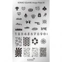 Matrita Dreptunghiulara Pentru Stampile Unghii Konad 05