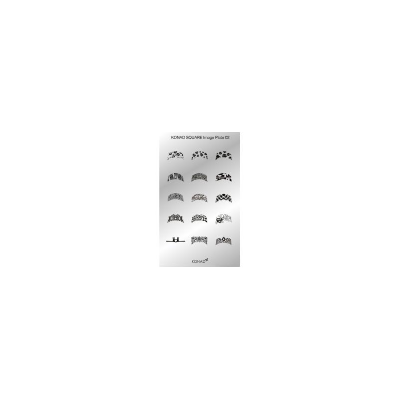 Matrita Dreptunghiulara Pentru Stampile Unghii Konad 02