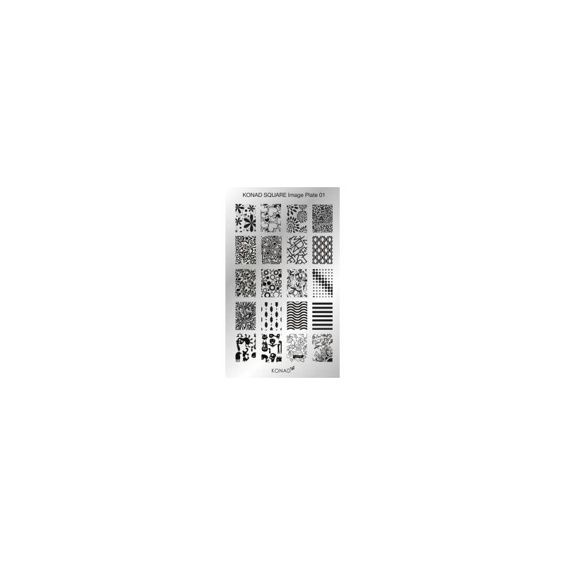 Matrita Dreptunghiulara Pentru Stampile Unghii Konad 01
