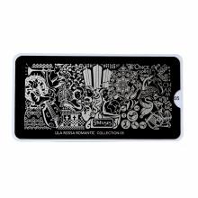 Matrita Metalica Pentru Stampile Unghii Lila Rossa - Romantic Collection 0105