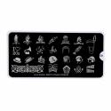 Matrita Metalica Pentru Stampile Unghii Lila Rossa - Party Collection 0409