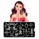 Matrita Metalica Pentru Stampile Unghii Lila Rossa - Party Collection 0408
