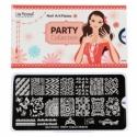 Matrita Metalica Pentru Stampile Unghii Lila Rossa - Party Collection 0404