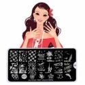 Matrita Metalica Pentru Stampile Unghii Lila Rossa - Party Collection 0403