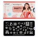 Matrita Metalica Pentru Stampile Unghii Lila Rossa - Party Collection 0402