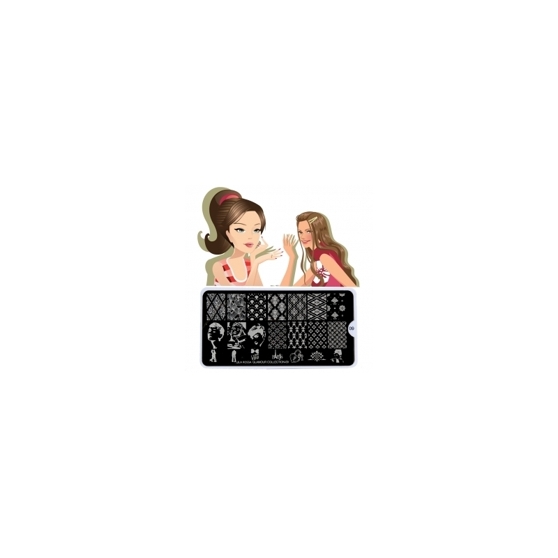 Matrita Metalica Pentru Stampile Unghii Lila Rossa - Glamour Collection 0309