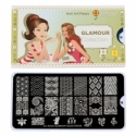 Matrita Metalica Pentru Stampile Unghii Lila Rossa - Glamour Collection 0308
