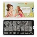 Matrita Metalica Pentru Stampile Unghii Lila Rossa - Glamour Collection 0306