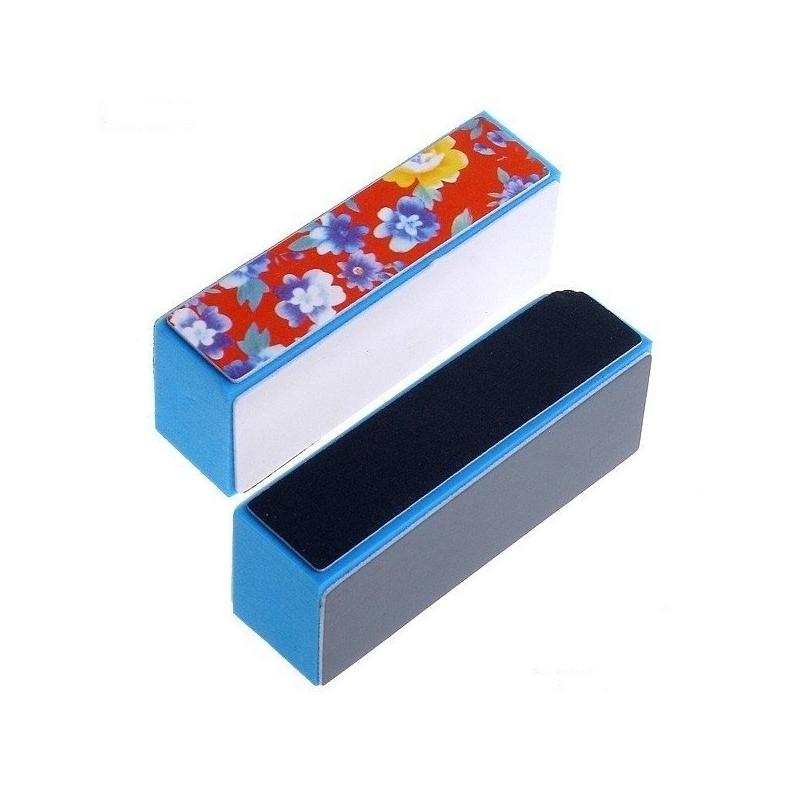 Buffer Unghii Albastru cu Floricele - Fin