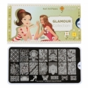 Matrita Metalica Pentru Stampile Unghii Lila Rossa - Glamour Collection 0305